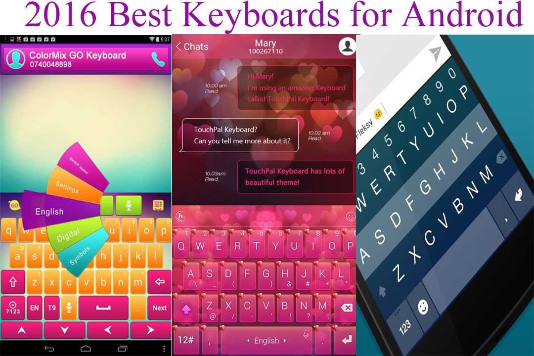 Best Keyboards for android 2016