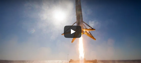 Space X rocket landed