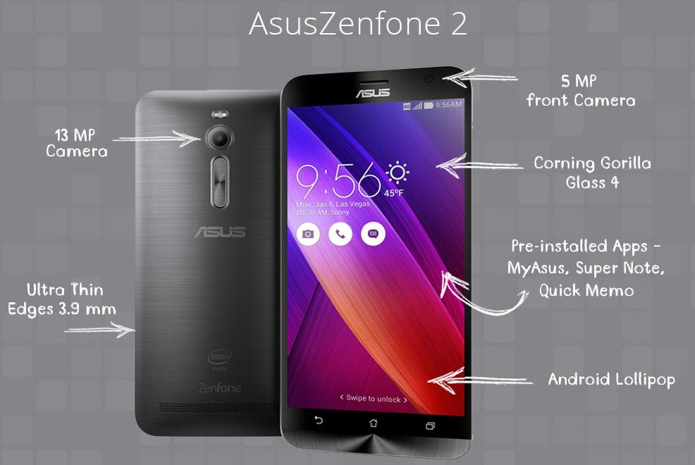 Asus Zenfone 2 Price, Specs, Zenfone 2 comes with 4GB RAM
