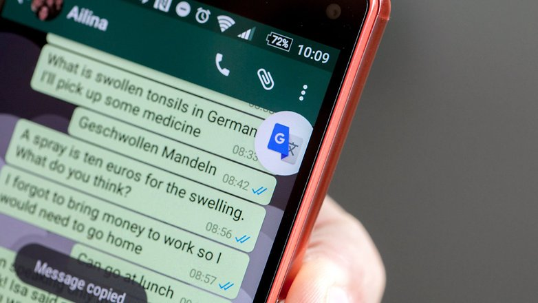 google translate is available in Android app
