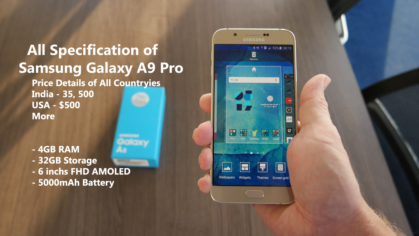 Samsung Galaxy A9 Pro Price Release Date Full Specification