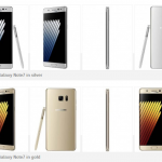 Samsung Galaxy Note 7 Gold and Silver