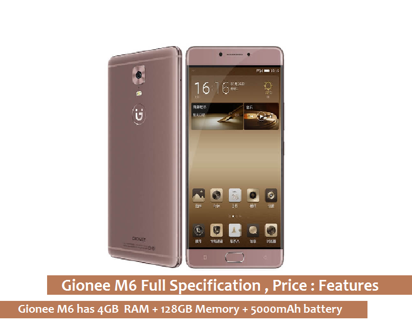 GIONEEE M6 GOLD
