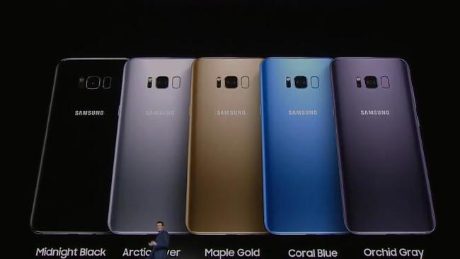 Samsung galaxy s8-gold-silver-blue-black