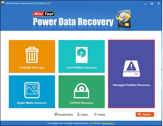 minitool Data recovery tool