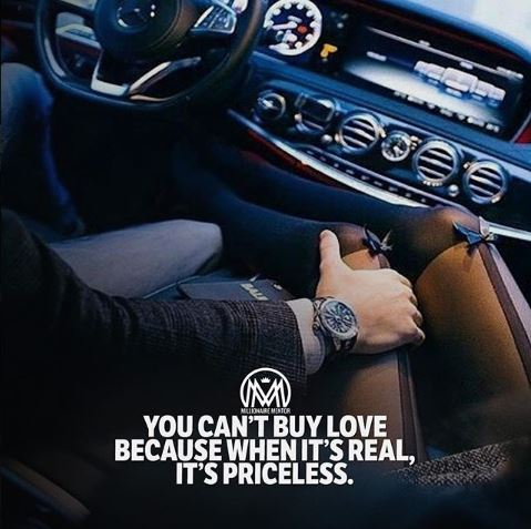 You Can't Buy Love Beause When it's Real, It's Priceless