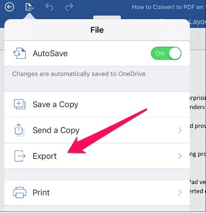 Step 2 convert pdf to word file