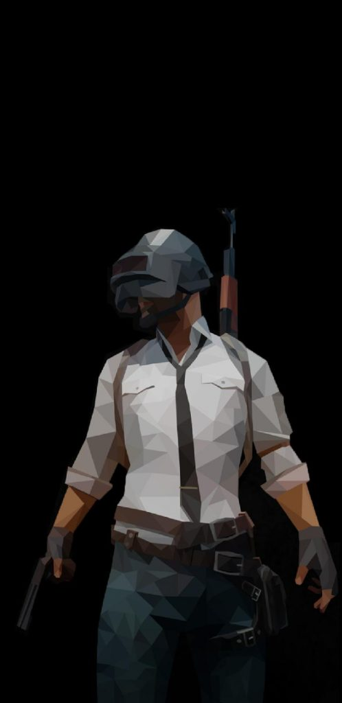 PUBG wallpaper for Notch and Infinity Display Smartphones