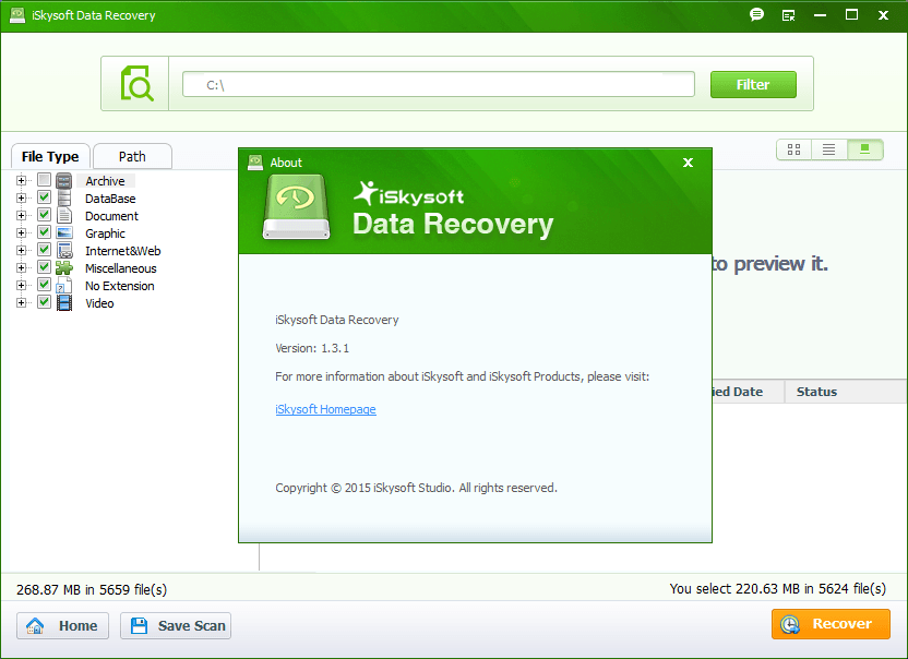 Features of iSkysoft Data Recovery Software