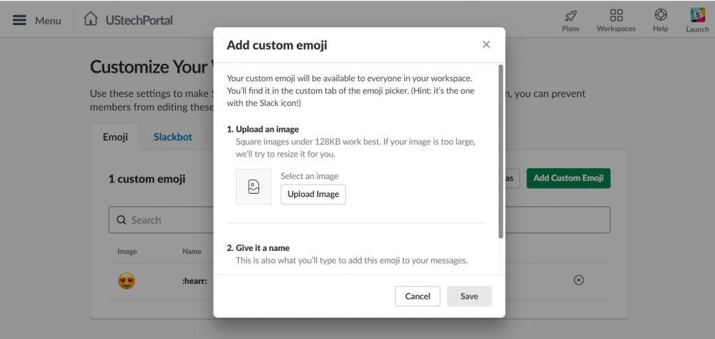 add custom emoji on slack