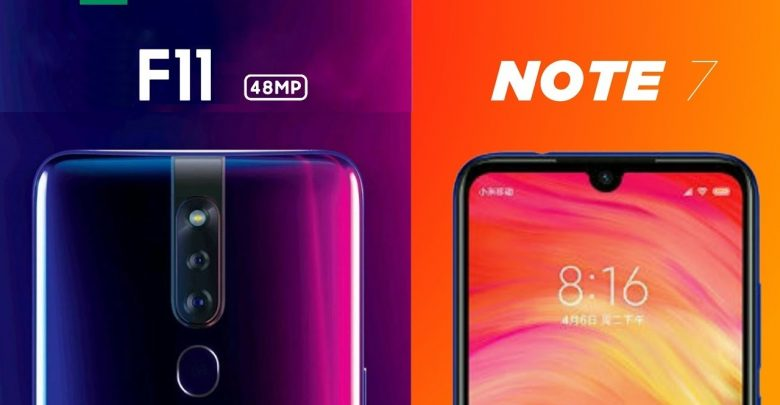 Comparison Oppo F11 vs Redmi Note 7 Pro