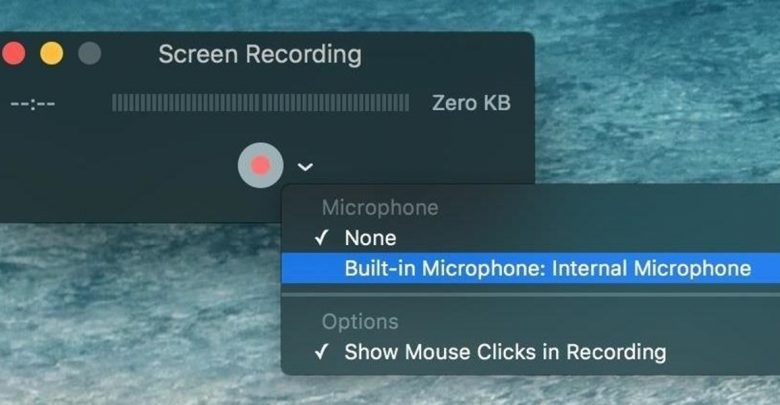 how to screen record on MacBook