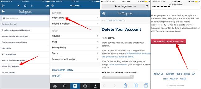 How to Delete Instagram Account -Instagram Deleted My Account
