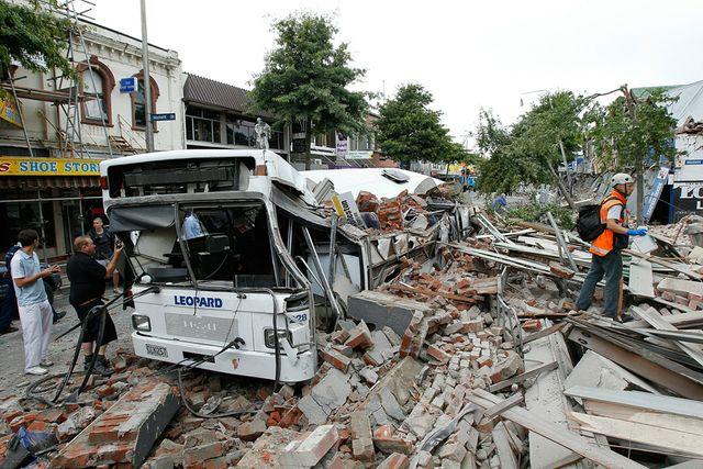 Earthquake strikes about 5.7 magnitude near Christchurch, New Zealand