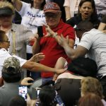 Donald Trump rally was plagued by violence Saturday when a protester was punched in the face
