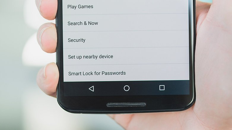 Android N password manager