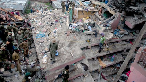 Kenya Building collapse : At 10 Killed and many injuried