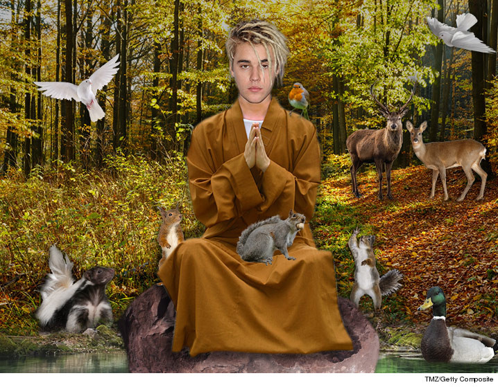 Justin bieber is now on spirtual mission.