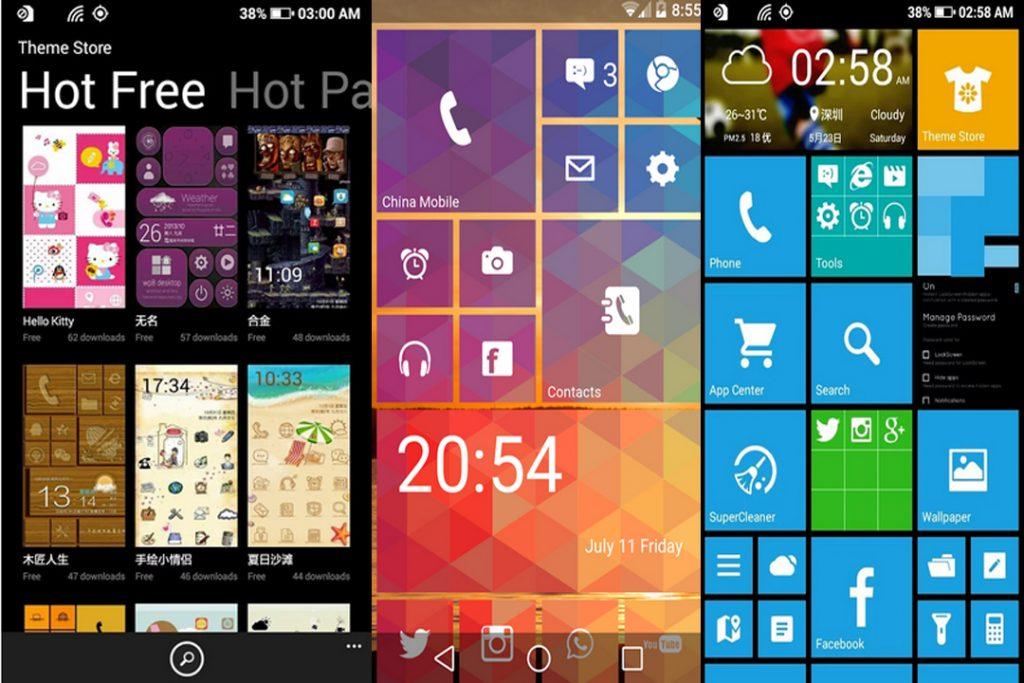 windows 8.1 launcher for android apps