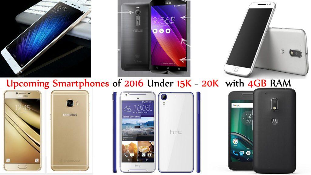 Best Upcoming Smartphones under 15000 – 20000 with 3GB-4GB of RAM