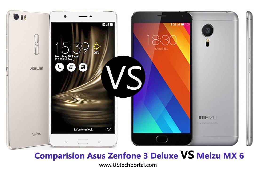 Comparision of Asus Zenfone 3 Deluxe VS Meizu MX 6