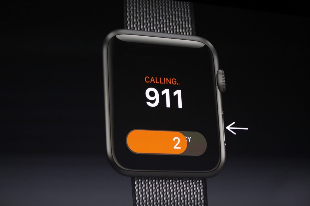 Apple WatchOS 3 emergency call feature