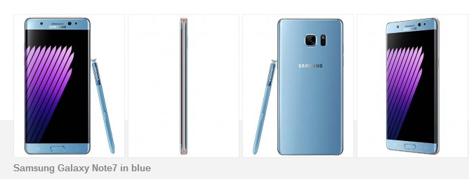 Samsung Galaxy Note 7 Blue