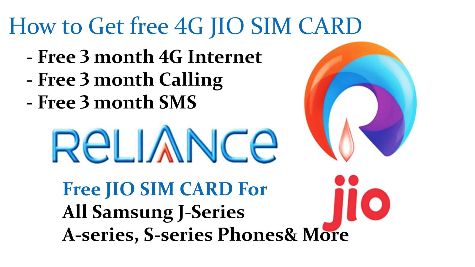 How to get Free Jio SIM for Samsung galaxy j2,j5,j7 & all 2016 Edition Phones