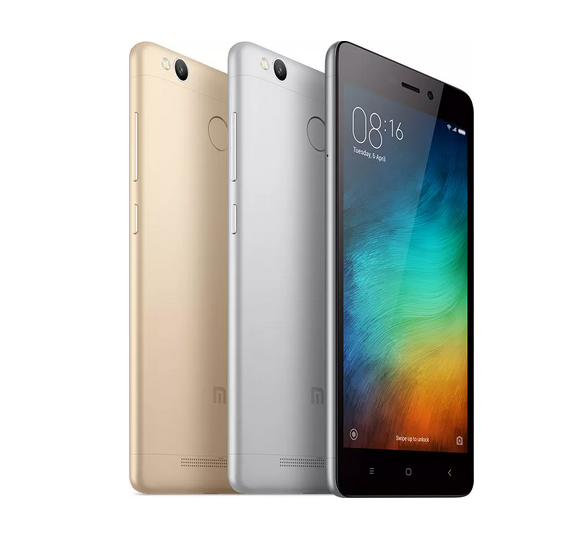 redmi 3s gold -silver-grey