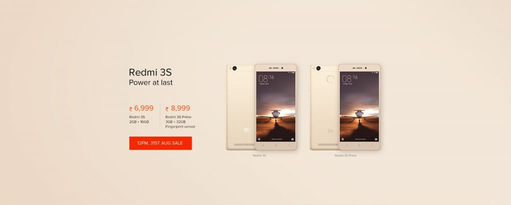 redmi mi 3s and redmi 3s prime gold