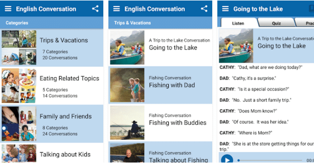 English Conversation Practice app for android.