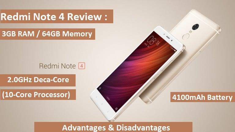 Redmi-Note-4- review - advantages, disadvantages