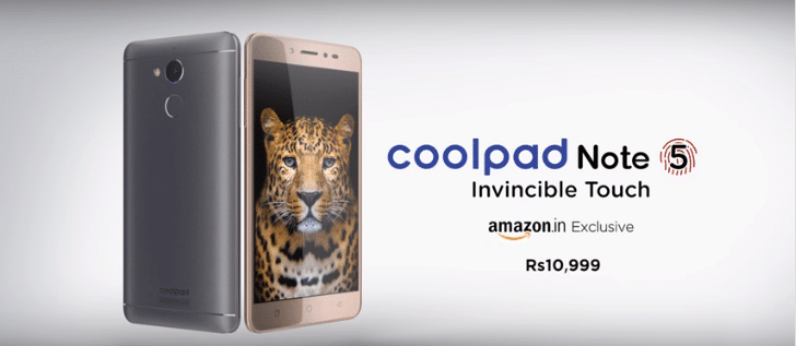 coolpad note 5 black-gold