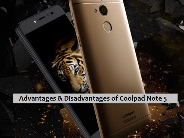 coolpad-note-5 advantages | disadvantages