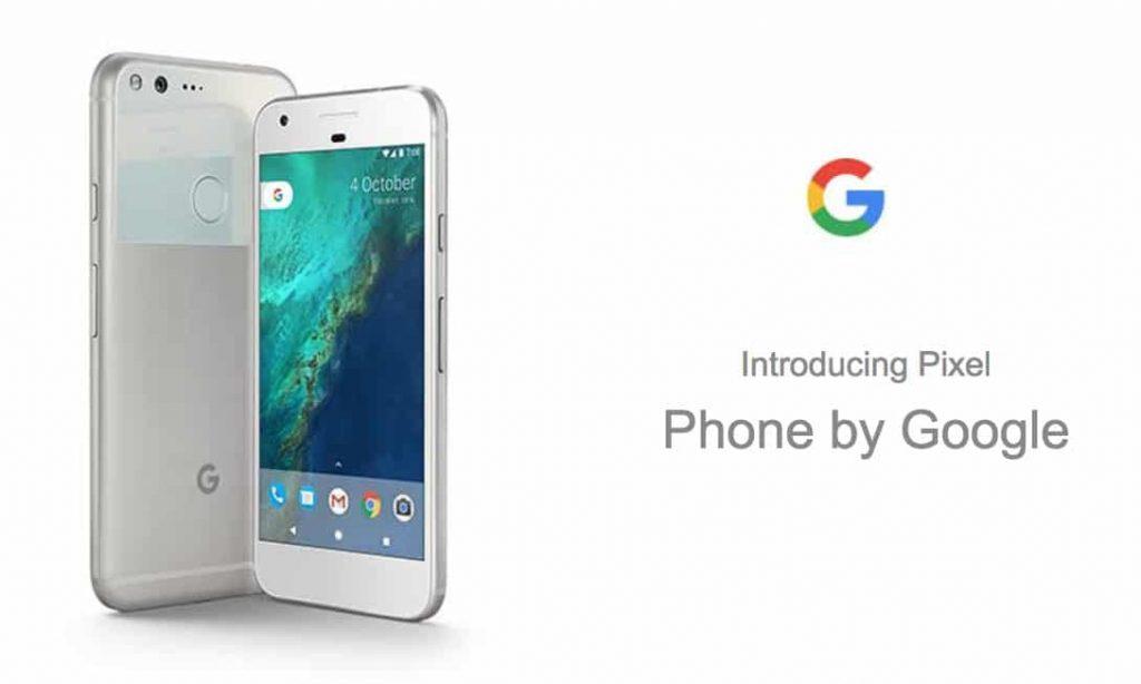 pixel-google white