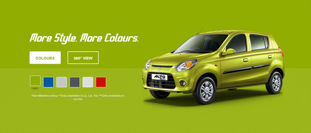 Maruti Suzuki Alto 800 green