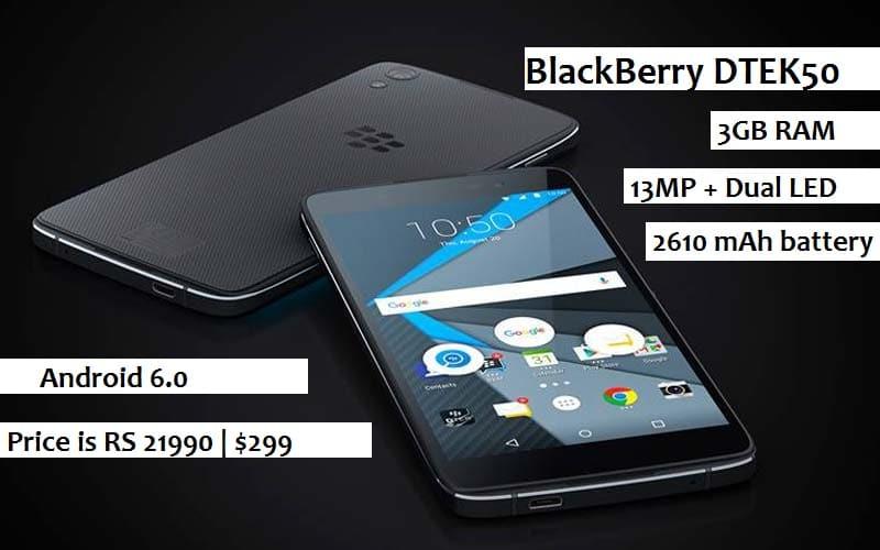 blackberry dtek50 black
