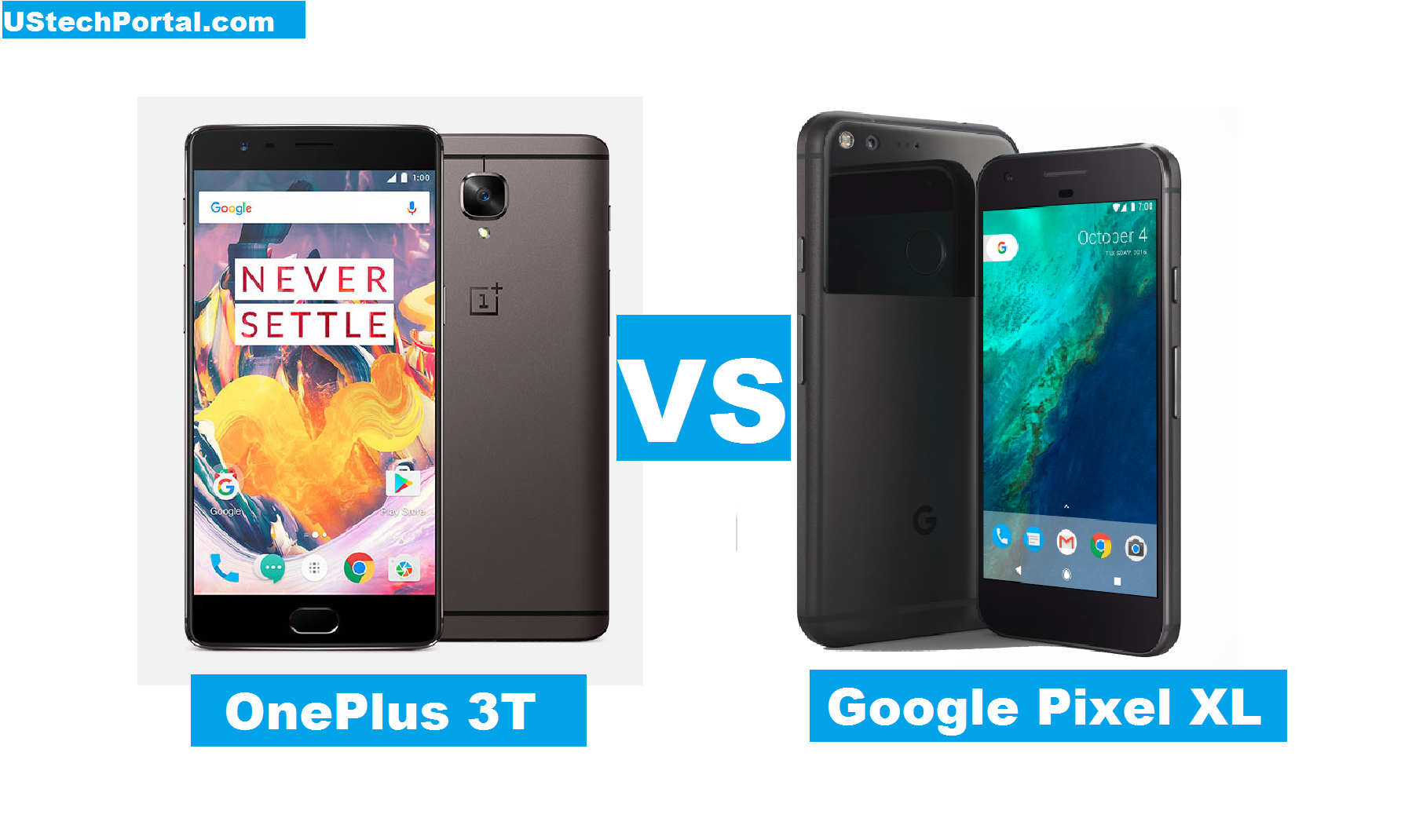 OnePlus 3T VS Google Pixel XL : Full Specification Comparision