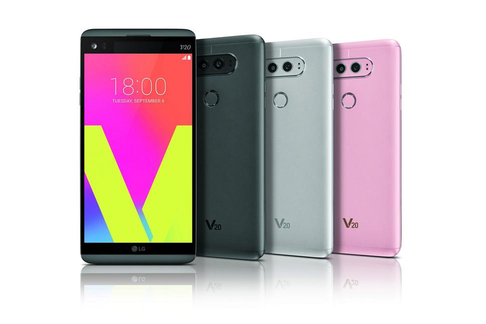 LG V20 -black-silver-pink