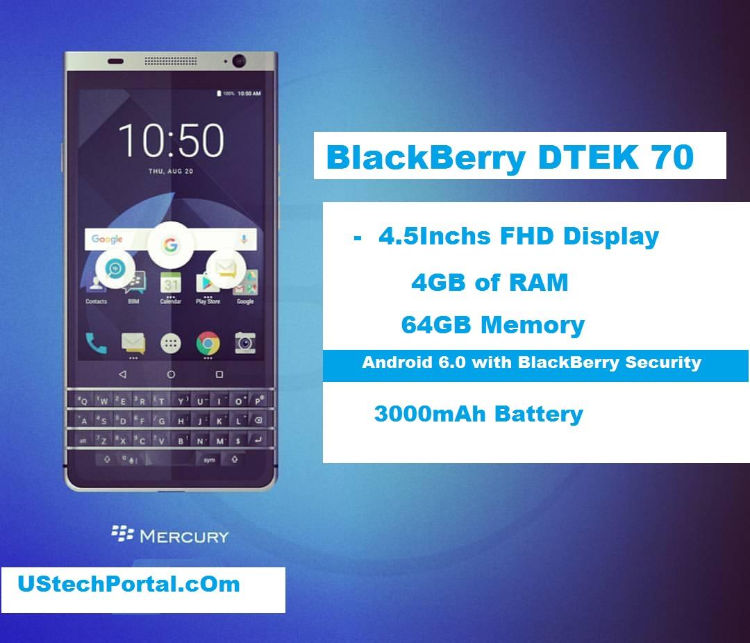 BlackBerry DTEK70 Review : Advantages & Disadvantages, Price