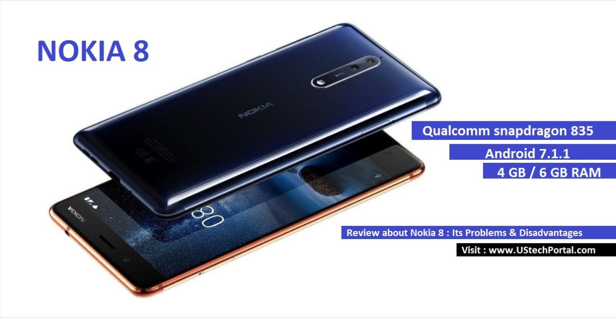 Nokia 8 blue-copper