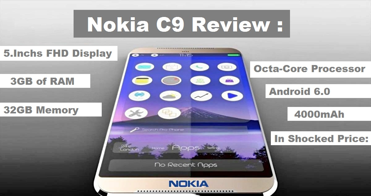 Nokia C9 Review : Full Specification , Concept , Release date ,Price