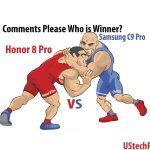 honor 8 vs samsung c9 pro