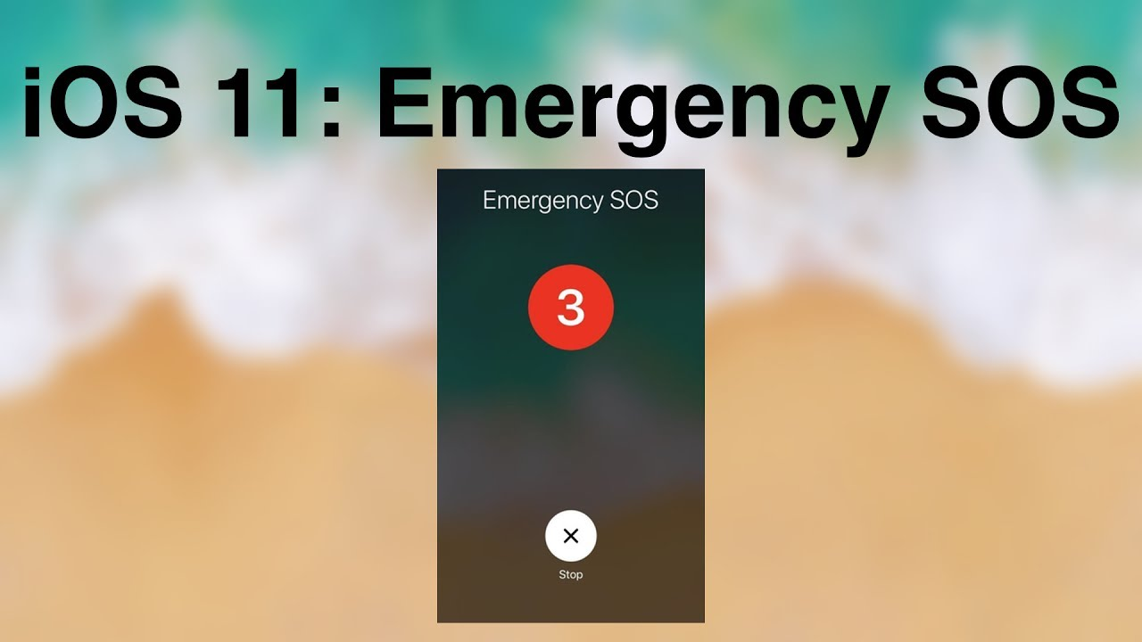 iOS Emergency SOS features