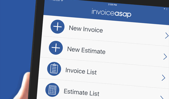 invoice app for iPhone