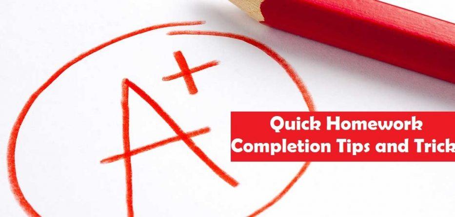 Quick Homework Completion