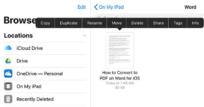 step 6 convert pdf to word file
