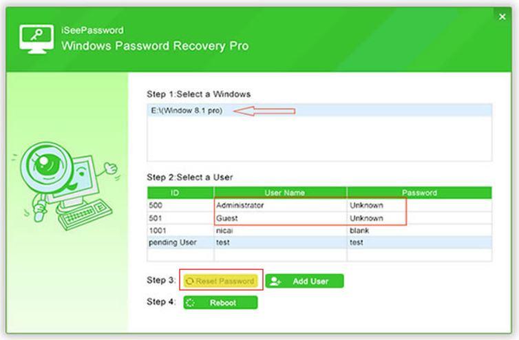 window password recovery
