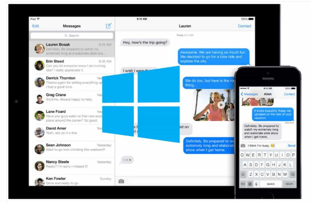 imessages on windows