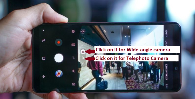 Samsung A9 camera operation